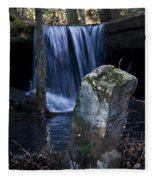 Waterfall At The Ruins Fleece Blanket
