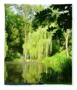 Weeping Willow Pond Fleece Blanket