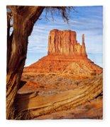 West Mitten Monument Valley Fleece Blanket