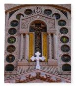 White Cross At St Sophia Fleece Blanket