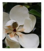 White Magnolia  Fleece Blanket