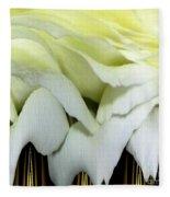 White Rose Polar Coordinates Fleece Blanket