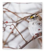 White-throated Sparrow Fleece Blanket