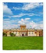 Wilanow Palace In Warsaw Poland Fleece Blanket