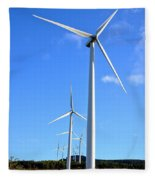 Wind Turbine Farm  Fleece Blanket