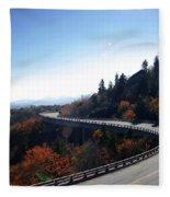 Winding Curve At Blue Ridge Parkway Fleece Blanket