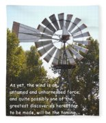 Windmill With Lincoln Quote Fleece Blanket
