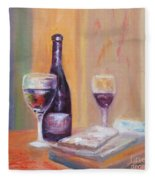 Wine And Blue Cheese Fleece Blanket