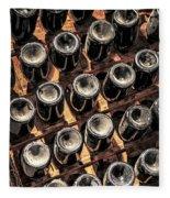 Wine Bottles Fleece Blanket
