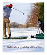 Winter Golf Fleece Blanket