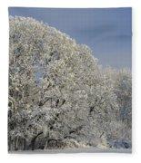 Winter In Oregon Fleece Blanket