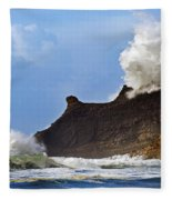 Winter Storm At Cape Kiwanda - Oregon Fleece Blanket