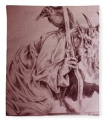 Wise Old Goat Fleece Blanket