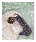Wishing Ewe A White Christmas Fleece Blanket