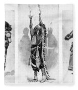 Wounded Knee, 1890 Fleece Blanket