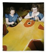 Wwii Workers, 1942 Fleece Blanket