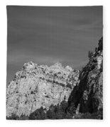 Wyoming Mountain Peaks Fleece Blanket