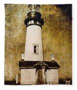 Yaquina Head Lighthouse - Oregon Fleece Blanket