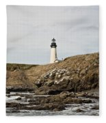 Yaquina Head Lighthouse - Pov 1 Fleece Blanket