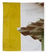 Yellow And Green Lines To The Roofs Fleece Blanket