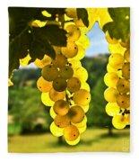 Yellow Grapes Fleece Blanket