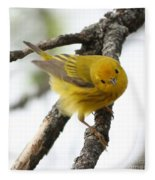 Yellow Warbler  Fleece Blanket