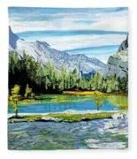 Yoho Valley Fleece Blanket