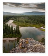 Yukon Canada Taiga Wilderness And Mcquesten River Fleece Blanket