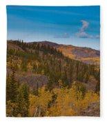Yukon Gold - Fall In Yukon Territory Canada Fleece Blanket