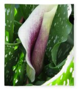 Zantedeschia Named Picasso Fleece Blanket