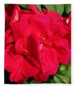 Zonal Geranium Named Candy Cherry Fleece Blanket