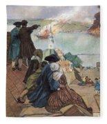 Battle Of Bunker Hill, 1775 Fleece Blanket