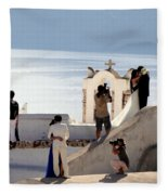 The Shoot On Santorini In Greece Fleece Blanket
