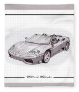 Ferrari 360 Modena Spyder Fleece Blanket
