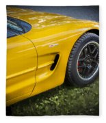 2002 Chevrolet Corvette Z06 Fleece Blanket