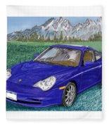 2002 Porsche 996 Fleece Blanket