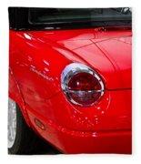 2002 Red Ford Thunderbird-rear Left Fleece Blanket