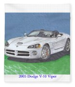 2005 Dodge V-10 Viper Fleece Blanket