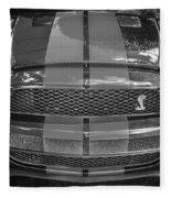 2007 Ford Shelby Gt 500 Mustang Bw Fleece Blanket