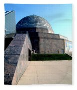 2009 Adler Planetarium With Glass Sky Pavilion II Chicago Il Usa Fleece Blanket