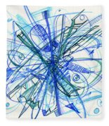 2010 Abstract Drawing 21 Fleece Blanket