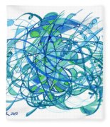 2010 Abstract Drawing 30 Fleece Blanket