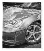 2010 Chevy Corvette Grand Sport Bw Fleece Blanket