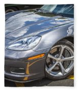 2010 Chevy Corvette Grand Sport Hdr Fleece Blanket