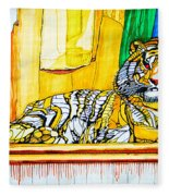2010 Year Of The Tiger Fleece Blanket