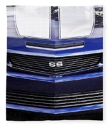 2012 Camaro Blue And White Ss Camaro Fleece Blanket