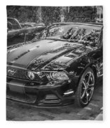 2013 Ford Shelby Mustang Gt 5.0 Convertible Bw  Fleece Blanket