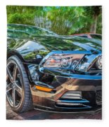 2013 Ford Shelby Mustang Gt 5.0 Convertible Painted   Fleece Blanket