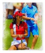2013 Solheim Cup - Michelle Wie Fleece Blanket
