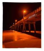 2014 02 06 01 A Okaloosa Island Pier 0195 Fleece Blanket